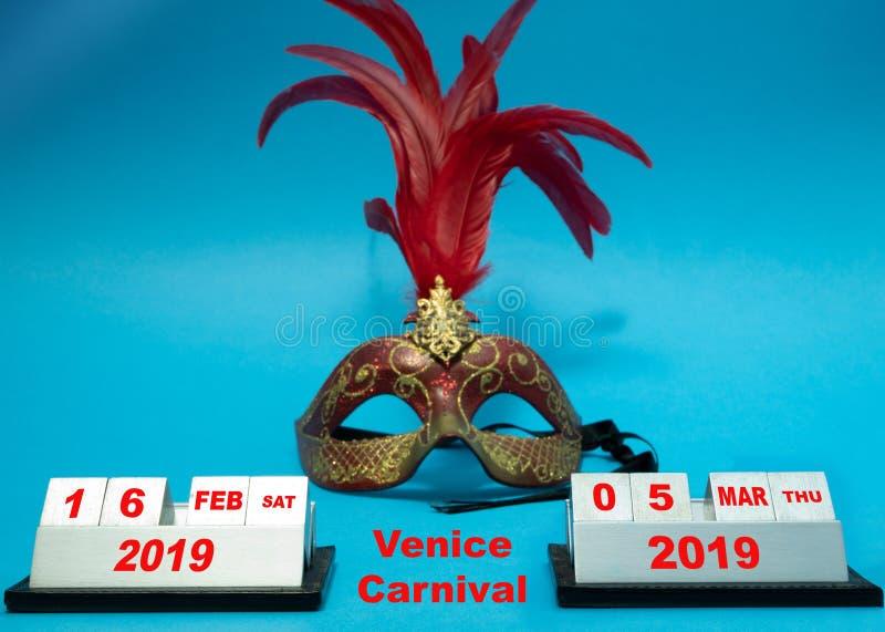 Data van Venetië Carnaval in Italië bij het jaar van 2019 royalty-vrije stock foto's