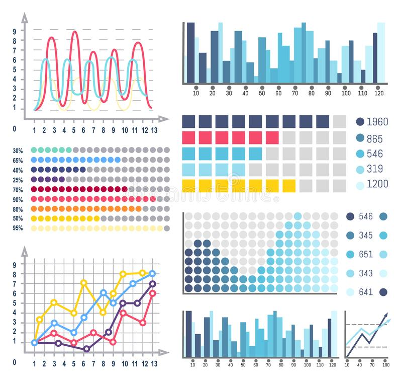 Data Visual Representation of Business Results stock illustration