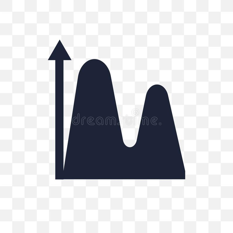 Data wave transparent icon. Data wave symbol design from Analytics collection. vector illustration