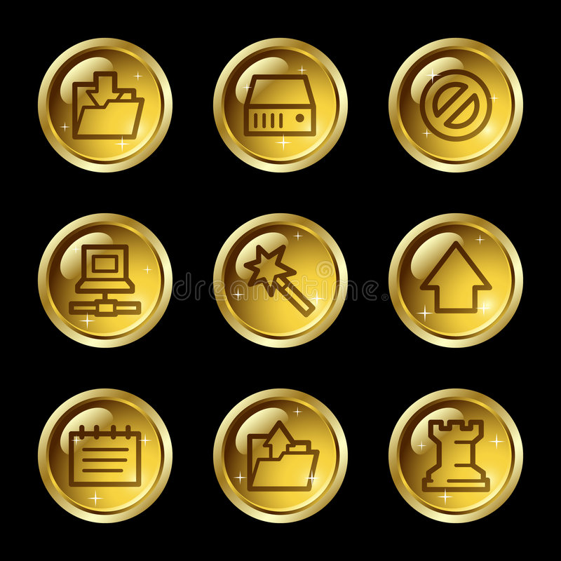 Download Data web icons stock vector. Image of internet, gold, games - 7764557