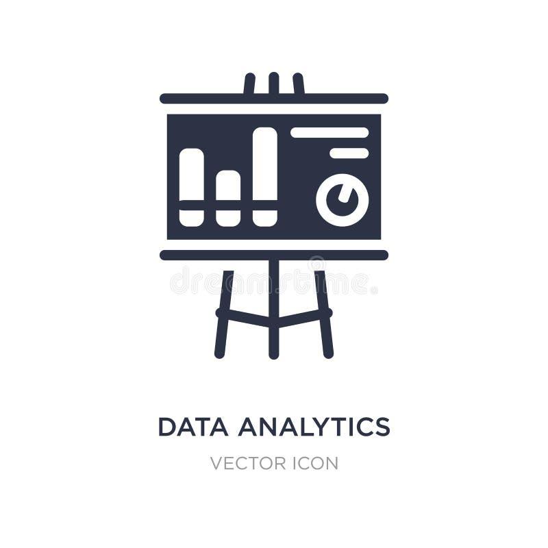 dataanalyticsdiagram på en presentationsskärmsymbol på vit bakgrund Enkel beståndsdelillustration från affärsidé royaltyfri illustrationer