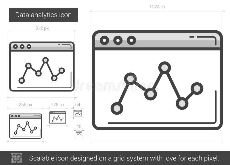 Dataanalyticslinje symbol stock illustrationer