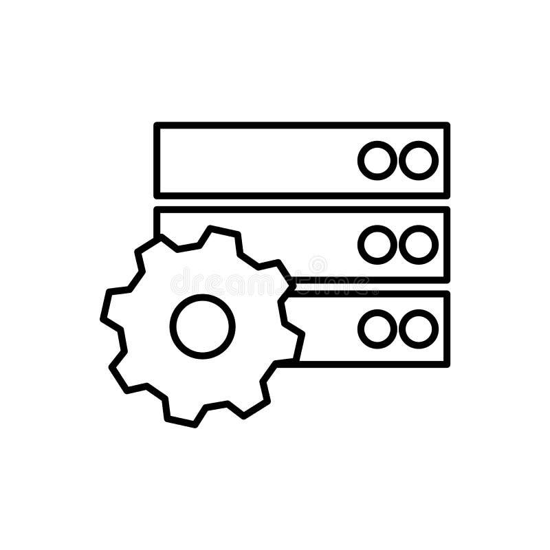Databas server, gee symbol - vektor Databasvektorsymbol stock illustrationer