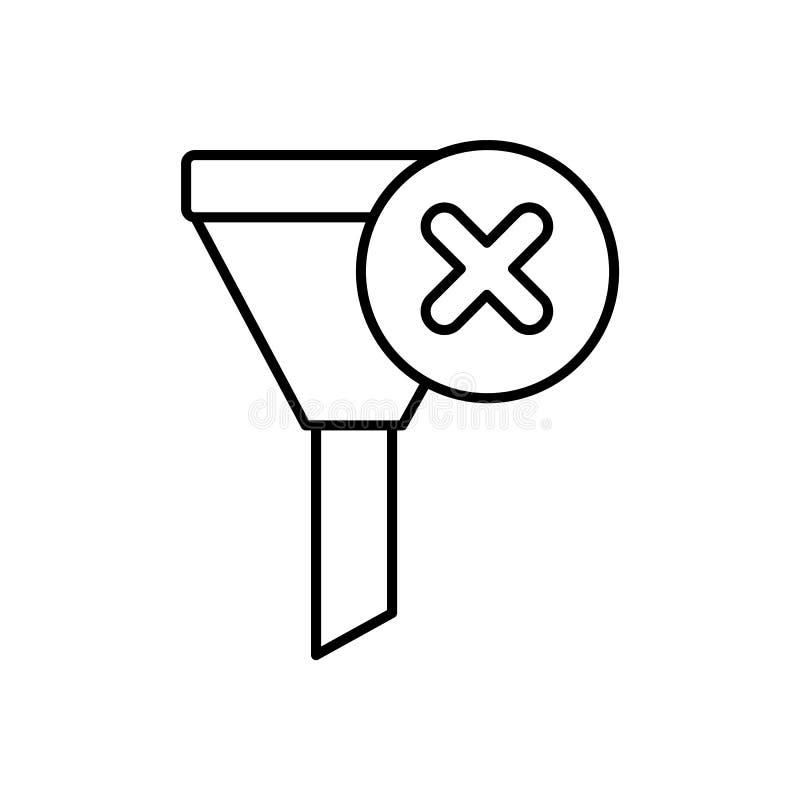 Databas serveren, tratt, röstar, ingen symbol - vektor Databasvektorsymbol royaltyfri illustrationer