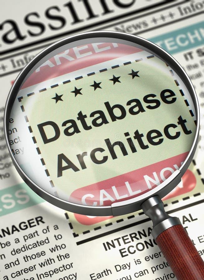Databasarkitekt Job Vacancy 3d royaltyfria bilder
