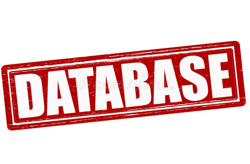 database ilustração stock