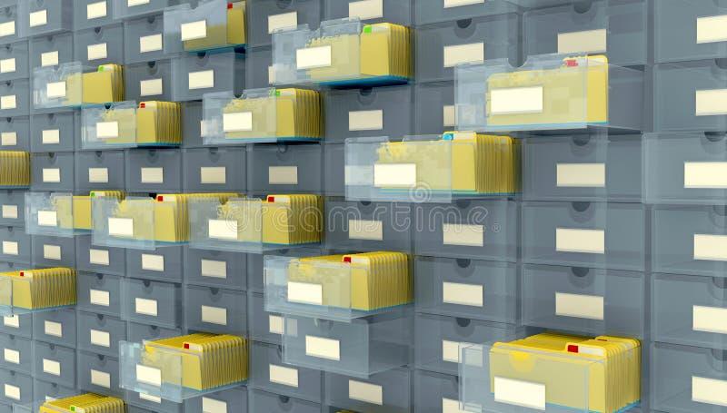 Database royalty-vrije illustratie