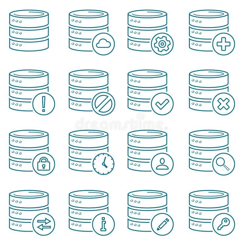 database иллюстрация вектора
