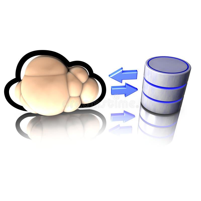 Download Database Access Through Cloud Computing Stock Illustration - Image: 20157876
