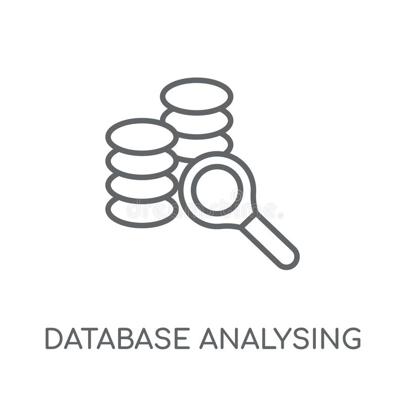 Database Analysing linear icon. Modern outline Database Analysin. G logo concept on white background from Business and analytics collection. Suitable for use on stock illustration