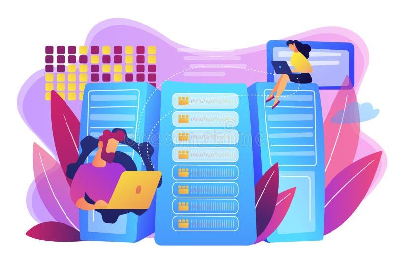 Big data storage concept vector illustration. stock illustration
