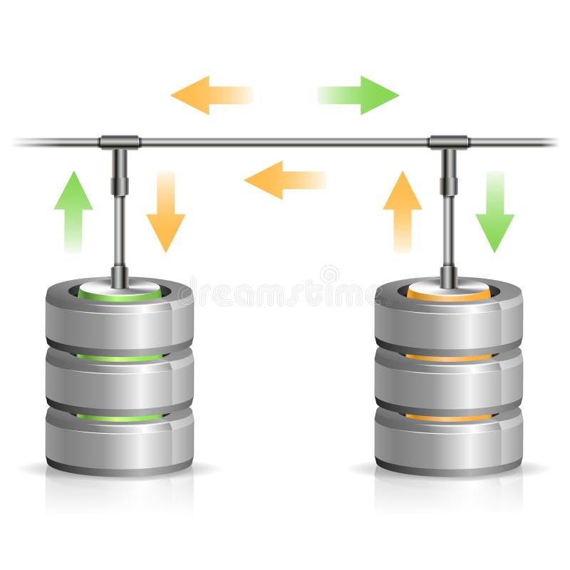 Database Backup Concept Stock Photo