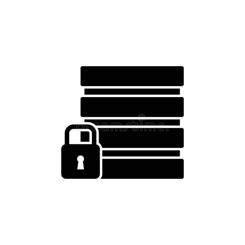 database, beveiligingspictogram Element van gdpr-pictogram voor mobiel concept en webapps Gedetailleerd gegevensbestand, veilighe stock illustratie