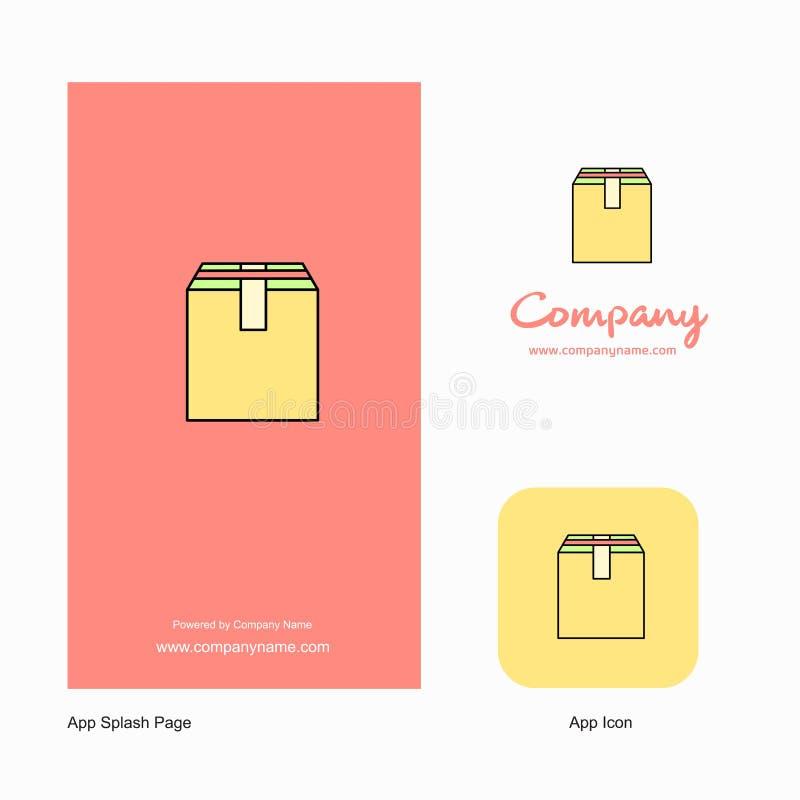 Database Company Logo App Icon y diseño de la página del chapoteo Elementos creativos del diseño del App del negocio ilustración del vector