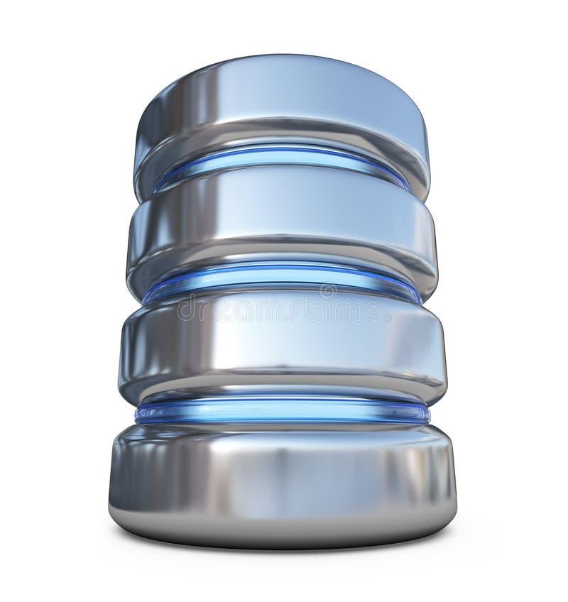database Concepto del almacenaje icono 3D aislado ilustración del vector