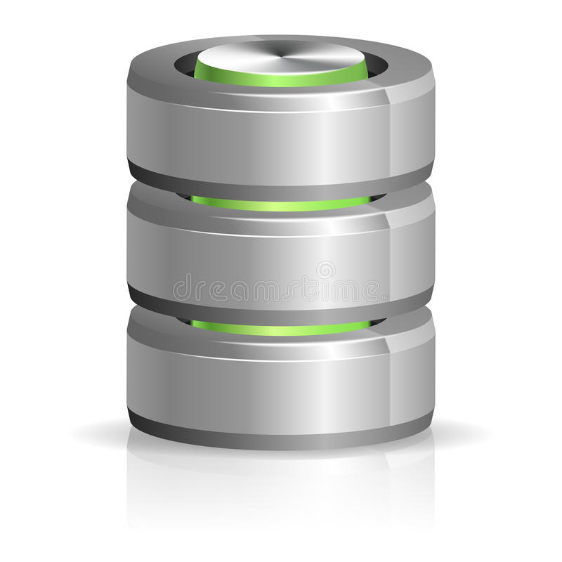 Download Database And Hard Disk Icon Stock Vector - Image: 27638870