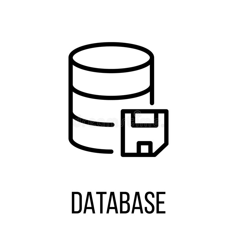 database icon or logo in modern line style stock vector rh dreamstime com logo database vector logo database search