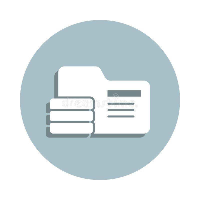 Database, icona del badge delle informazioni Gglifo semplice, vettore piatto di icone gdpr per ui e ux, sito Web o applicazione m illustrazione di stock