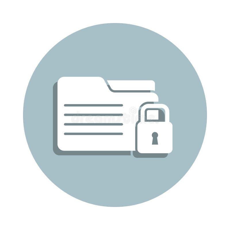 Database, icona del badge delle informazioni Gglifo semplice, vettore piatto di icone gdpr per ui e ux, sito Web o applicazione m royalty illustrazione gratis