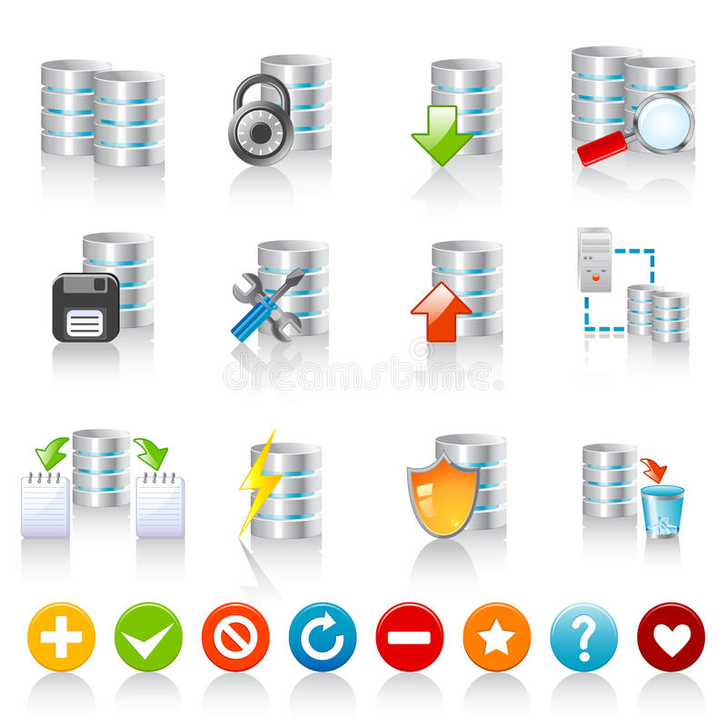 Free Database Icons Royalty Free Stock Photography - 16608817