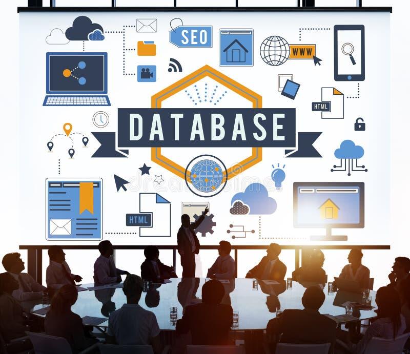 Database Information Server Storage Technology Concept royalty free stock images