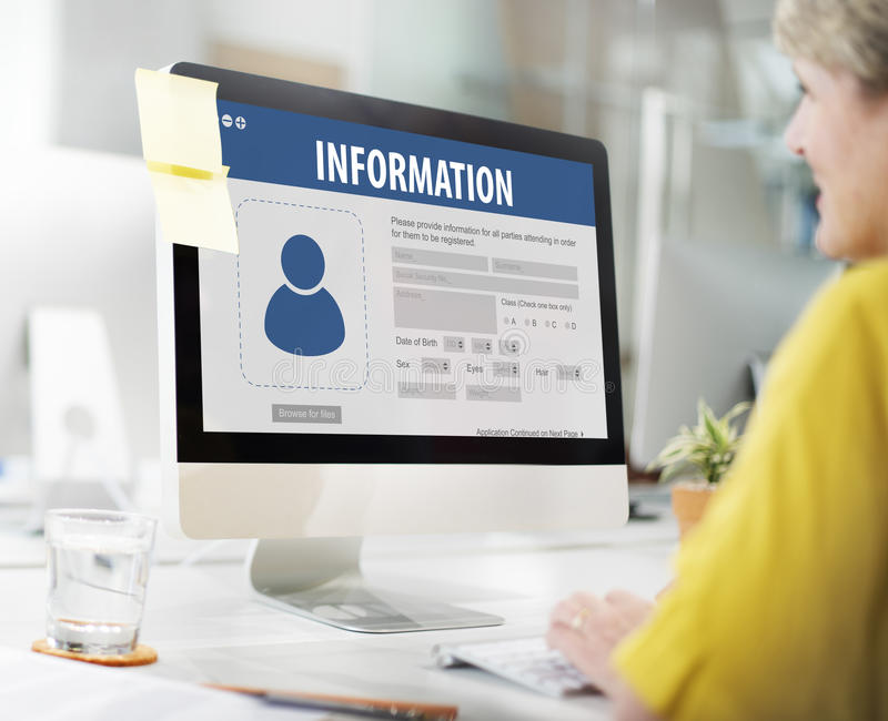 Database Information System Networking Accessibility Concept stock photos