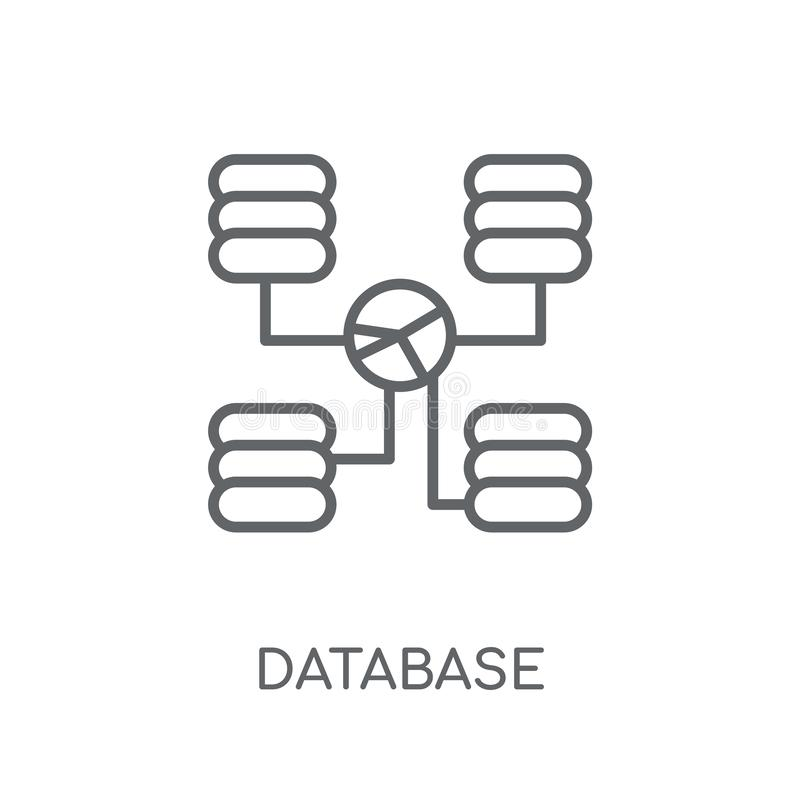 Database Interconnected linear icon. Modern outline Database Int vector illustration
