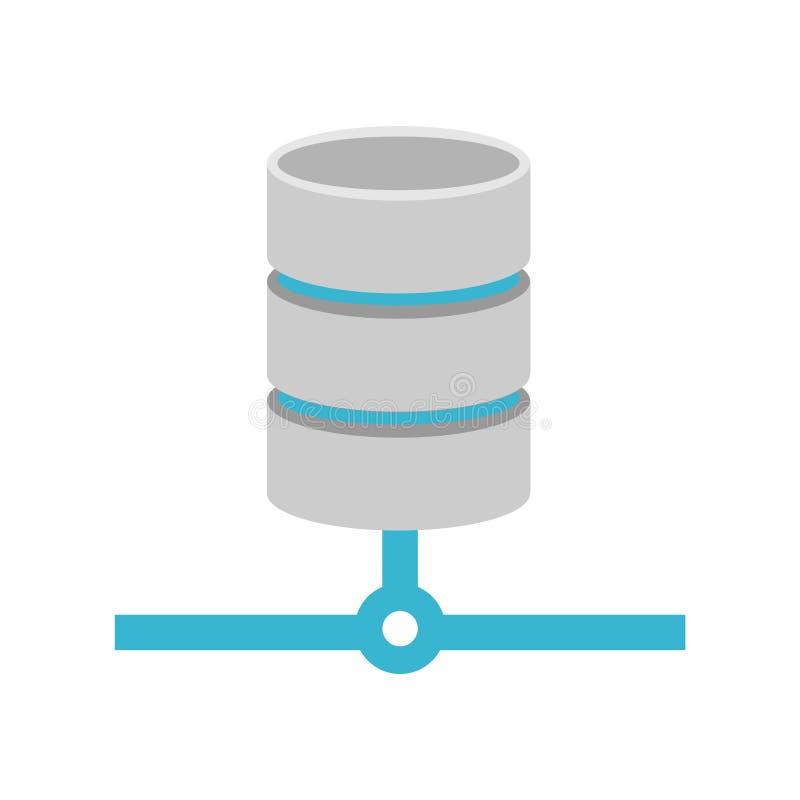 Database relational icon. Database connection symbol royalty free illustration
