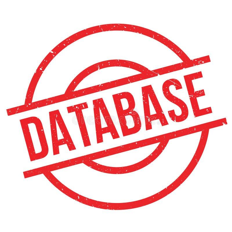 Database rubber stamp stock illustration