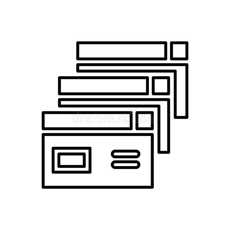 Database, server, brouwerspictogram - Vector Gegevensbestand vectorpictogram stock illustratie