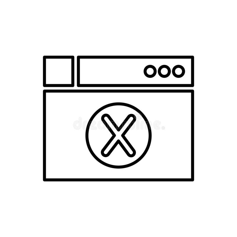 Database, server, browser pictogram - Vector Gegevensbestand vectorpictogram stock illustratie