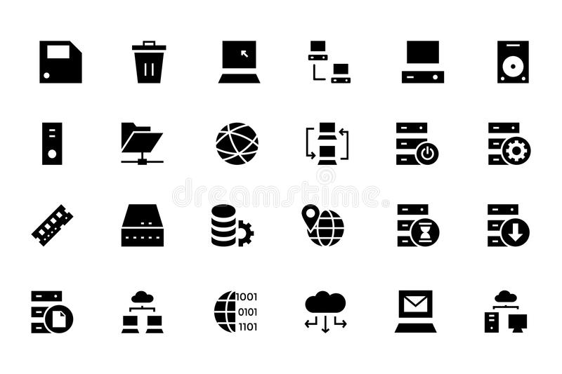 Database and Server Colored Vector Icons 2 vector illustration