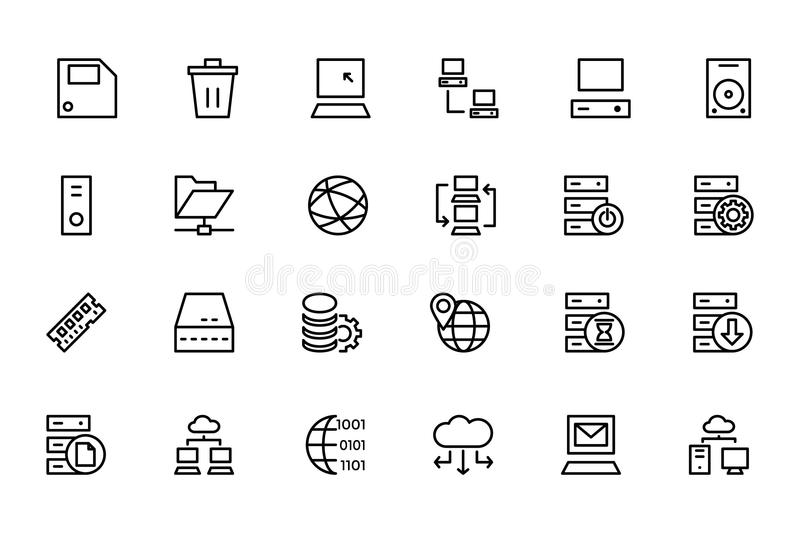 Database and Server Colored Vector Icons 2 royalty free illustration