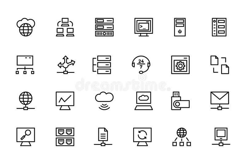 Database and Server Colored Vector Icons 4 vector illustration
