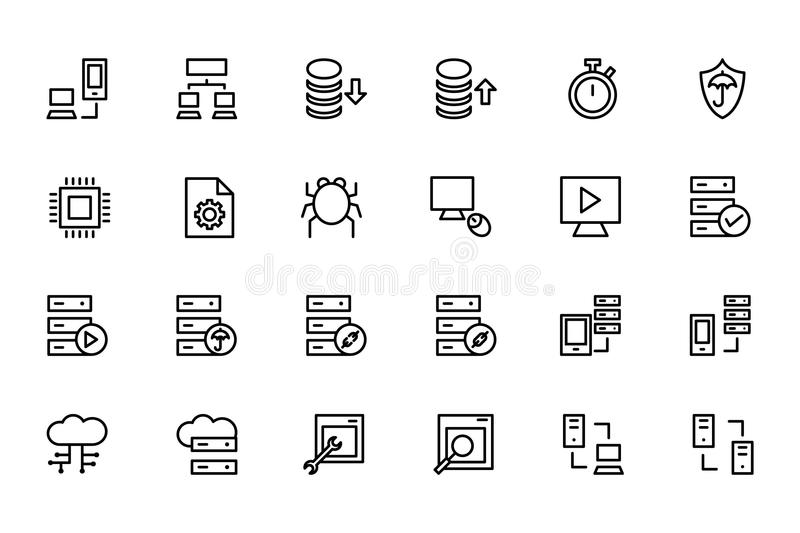 Database and Server Colored Vector Icons 4 stock illustration