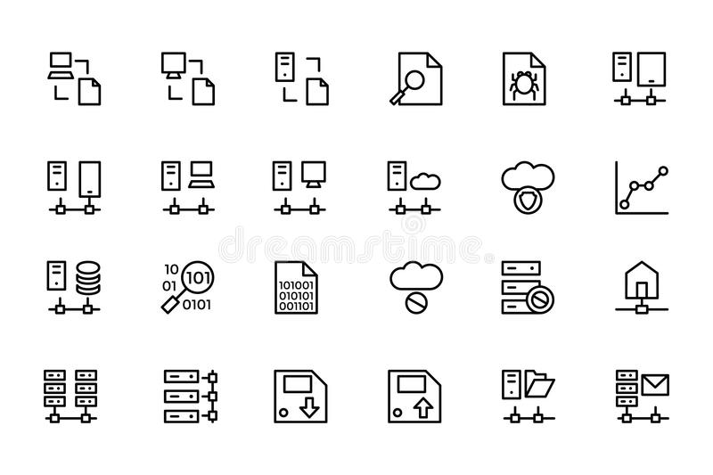 Database and Server Colored Vector Icons 5 vector illustration