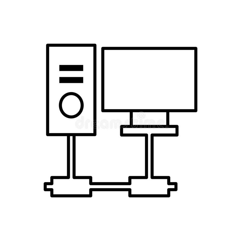 Database, server, computer icon - Vector. Database vector icon royalty free illustration