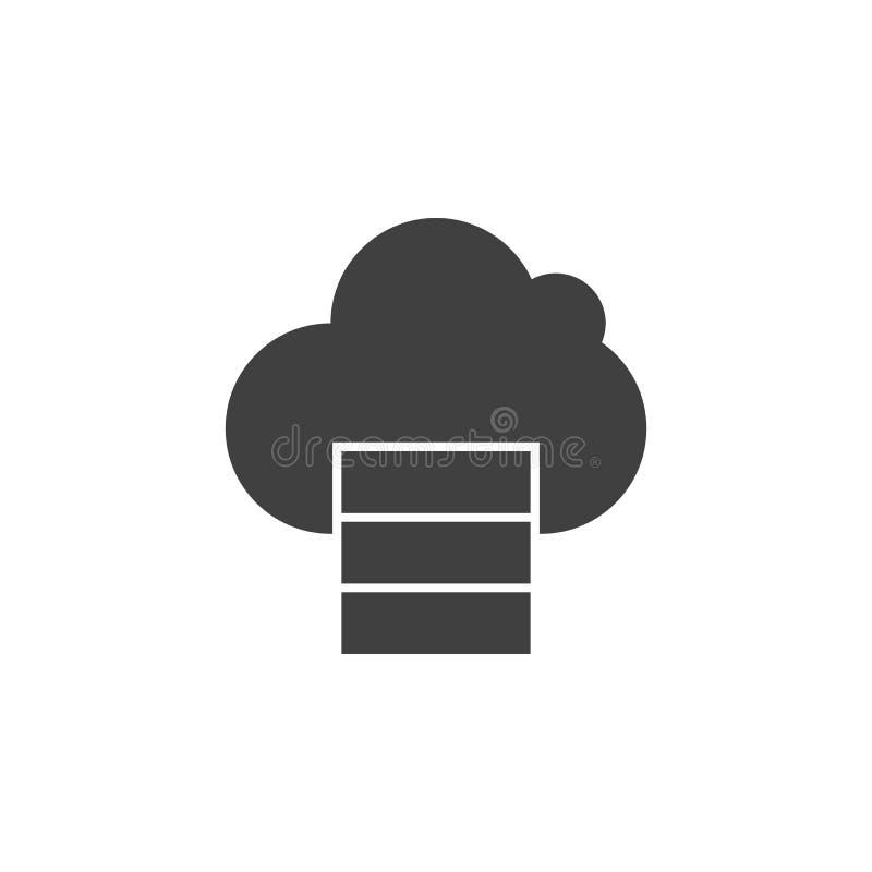 Database, server die, wolk vectorpictogram gegevens verwerken Element van gegevens voor mobiele concept en webtoepassingenillustr royalty-vrije illustratie