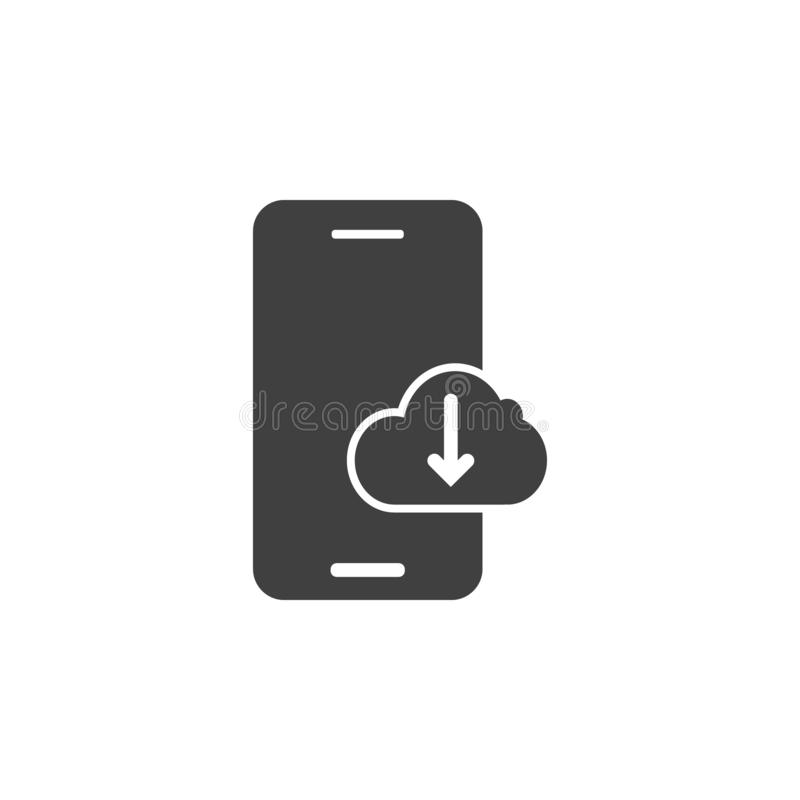 Database, server, download vector icon. Element of data for mobile concept and web apps illustration. Thin line icon for website stock illustration