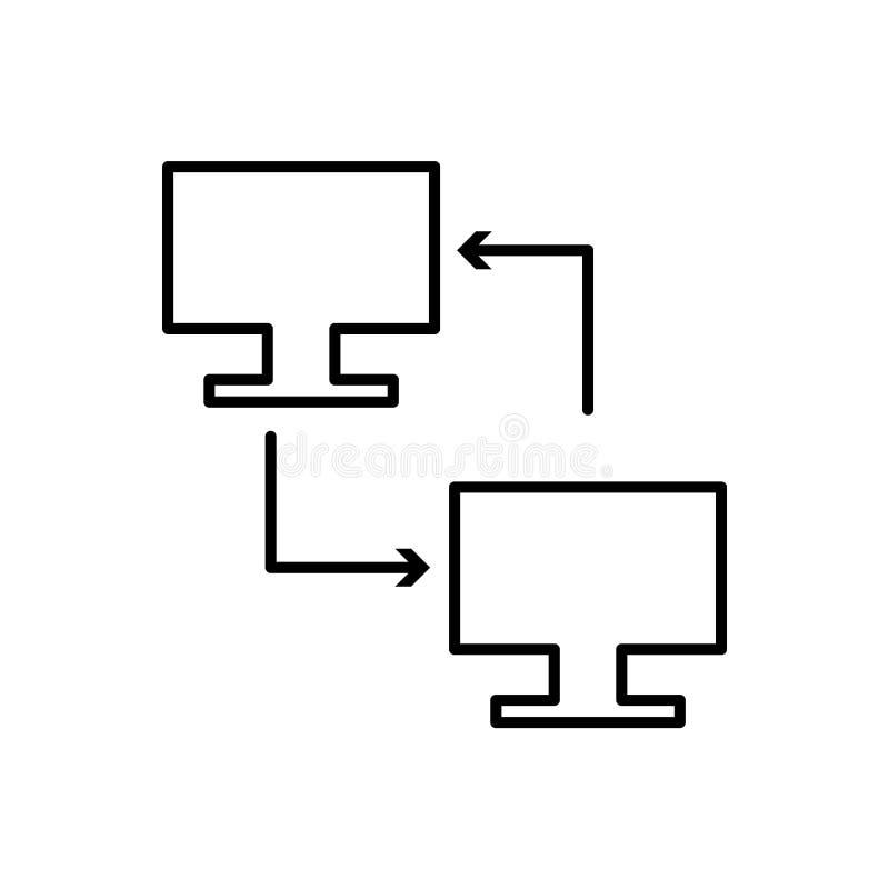 Database, server, landpictogram - Vector Gegevensbestand vectorpictogram royalty-vrije illustratie