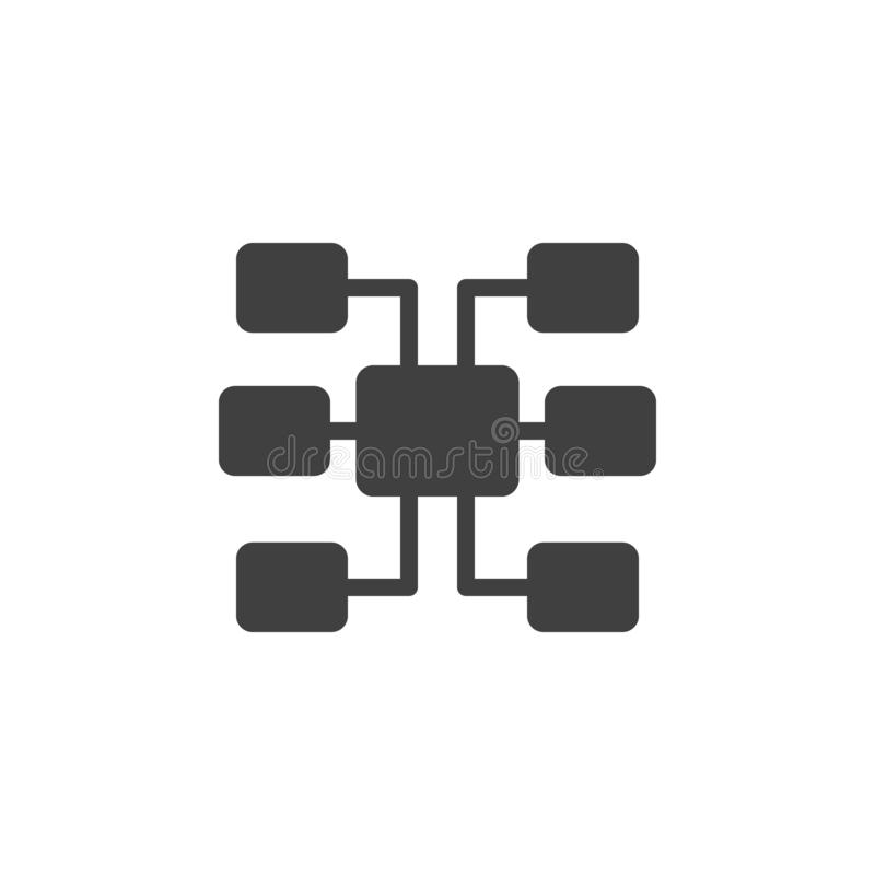 Database, server, sitemap vector icon. Element of data for mobile concept and web apps illustration. Thin line icon for website stock illustration