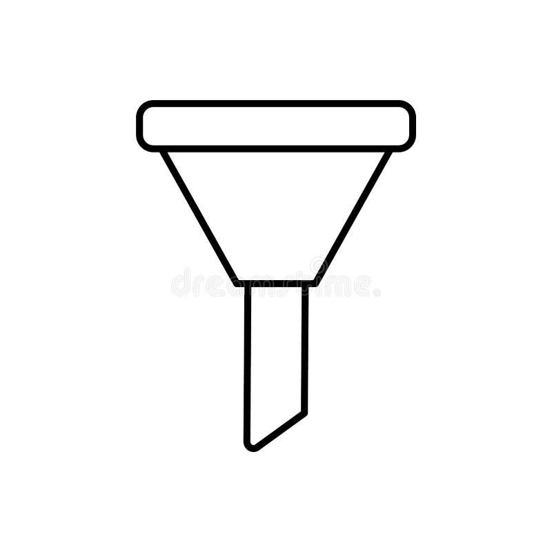Database, server, trechterpictogram - Vector Gegevensbestand vectorpictogram royalty-vrije illustratie