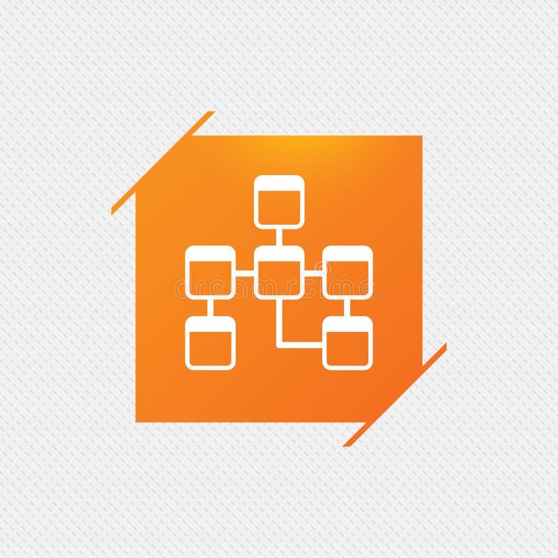 Database sign icon. Relational database schema. royalty free illustration