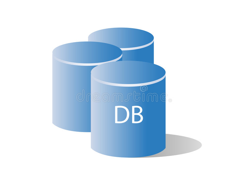 Database / Storage. Illustration of database for storing information royalty free illustration