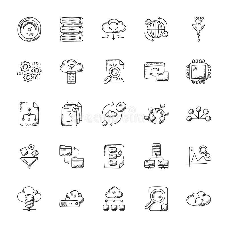 Database and Storage Icons royalty free illustration