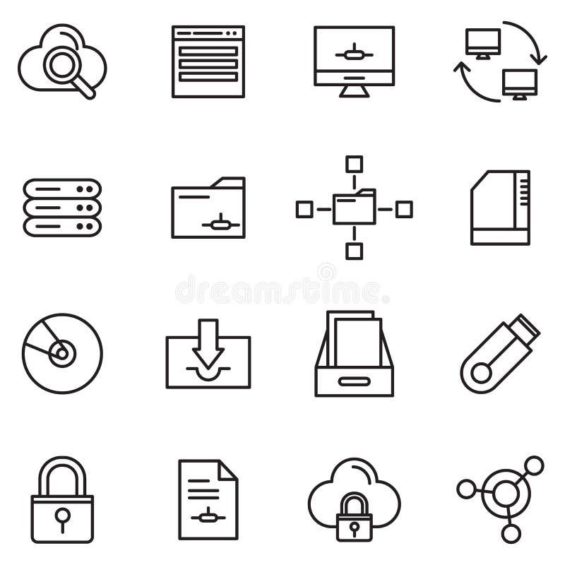 Database And Storage royalty free illustration