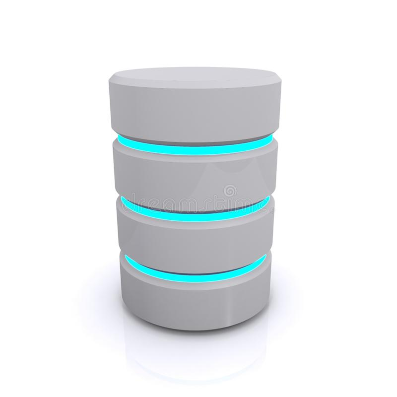 Database Tower. Illustration of a vertical database tower