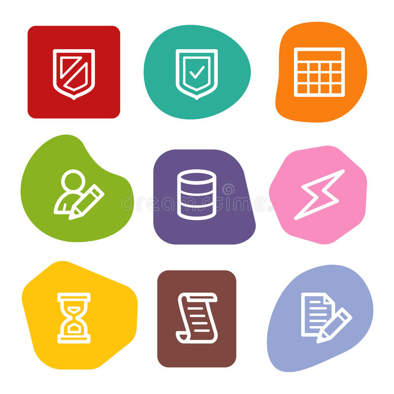 Download Database Web Icons, Colour Spots Series Royalty Free Stock Photo - Image: 10306865