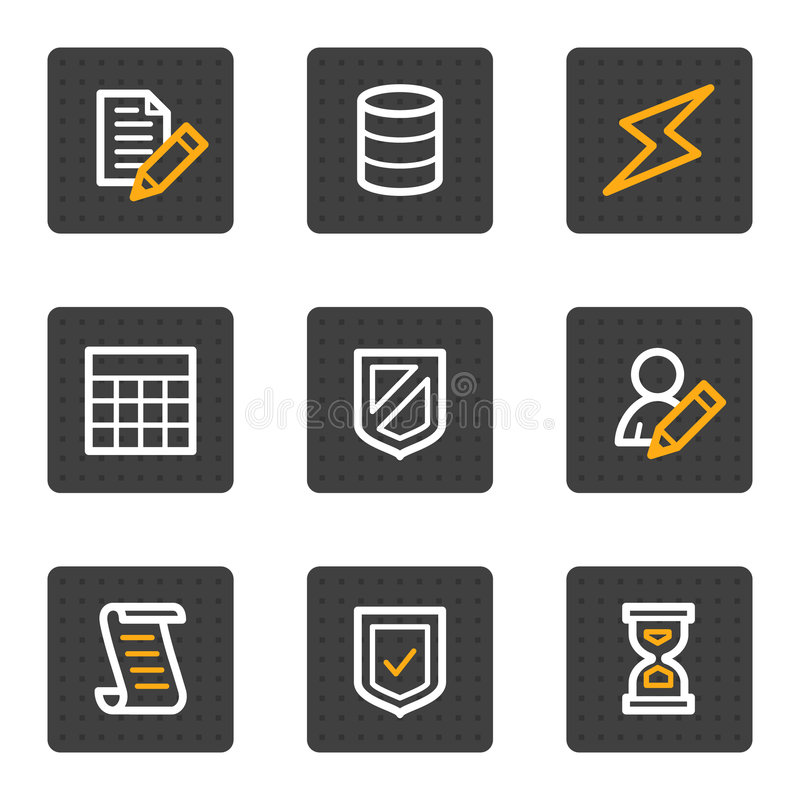 Download Database Web Icons, Grey Buttons Series Stock Vector - Image: 9185102