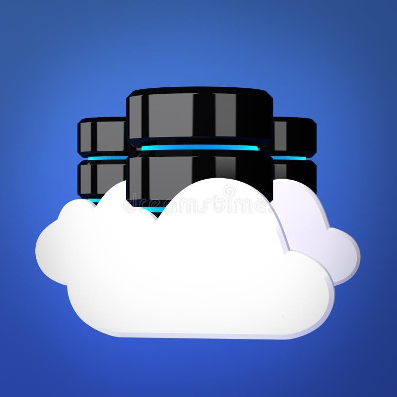 Databaser och beräknande begrepp för moln vektor illustrationer